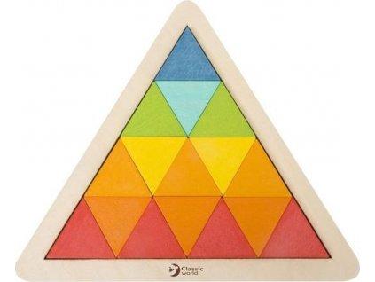 CLASSIC WORLD Dřevěná mozaika Trojúhelník