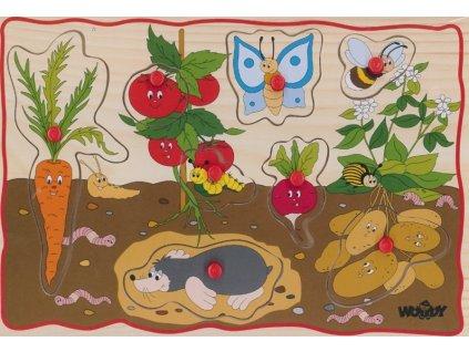 WOODY Vkládačka Zeleninová zahrádka