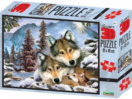 PRIME 3D Puzzle Vlčí harmonie 3D 1000 dílků