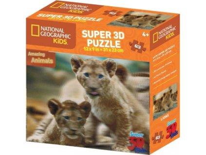 PRIME 3D Puzzle Lvíčata 3D 63 dílků