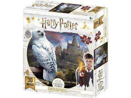 PRIME 3D poškozený obal: Puzzle Harry Potter: Hedvika 3D 300 dílků
