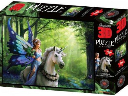 PRIME 3D Puzzle Víla s jednorožcem 3D 1000 dílků