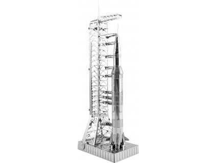 METAL EARTH 3D puzzle Apollo Saturn V s rampou