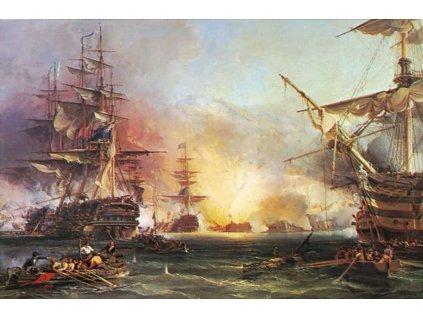 RAVENSBURGER Puzzle Námořní bitva u Alžíru 3000 dílků