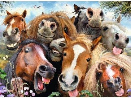 RAVENSBURGER Puzzle Koňská selfie 500 dílků