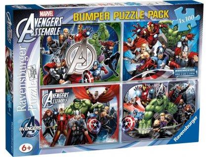 RAVENSBURGER Puzzle Avengers 4x100 dílků