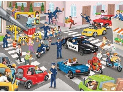 RAVENSBURGER Puzzle Policejní hlídka XXL 100 dílků