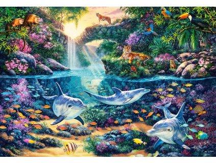 CASTORLAND Puzzle Ráj v džungli 1500 dílků