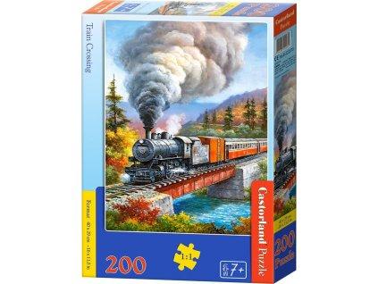 CASTORLAND Puzzle Železniční most 200 dílků