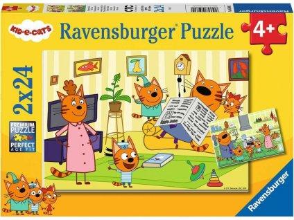 RAVENSBURGER Puzzle Kid-E-Cats 2x24 dílků