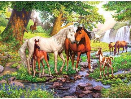 RAVENSBURGER Puzzle Koně u řeky XXL 300 dílků