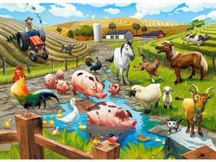 CASTORLAND Puzzle Život na farmě 70 dílků