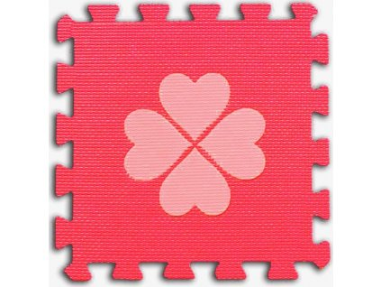 Pěnové BABY puzzle Čtyřlístky 1 díl (červený)