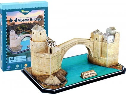 EDUCATOR 3D puzzle Obloukový most v Mostaru, Bosna a Hercegovina 64 dílků