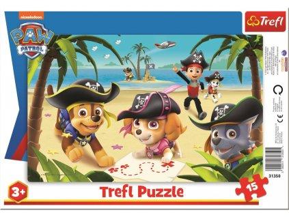 TREFL Puzzle Tlapková patrola: Pirátská výprava 15 dílků