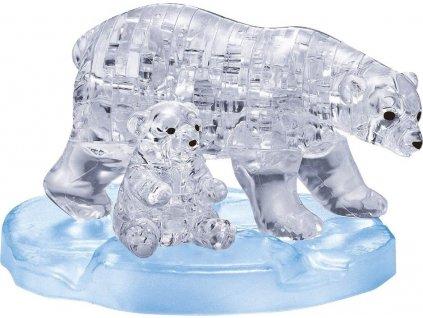 HCM KINZEL 3D Crystal puzzle Lední medvědice s mládětem 40 dílků