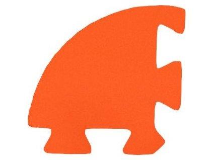 MALÝ GÉNIUS Rohový dílek 8mm (oranžový) - pro vlnu