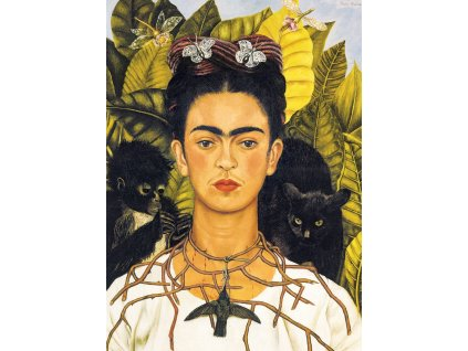 EUROGRAPHICS Puzzle Portrét Frídy Kahlo s trnovým náhrdelníkem 1000 dílků