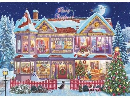 EUROGRAPHICS Puzzle Vánoční přípravy 1000 dílků