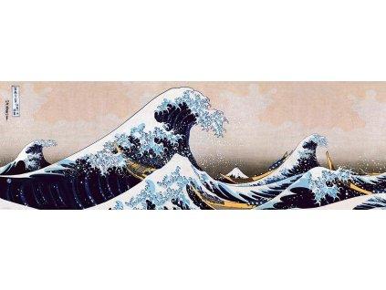EUROGRAPHICS Panoramatické puzzle Velká vlna na pobřeží Kanagawy 1000 dílků