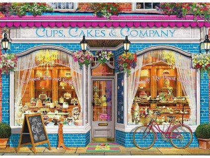 EUROGRAPHICS Puzzle Cukrárna Cups, Cakes & Company 1000 dílků