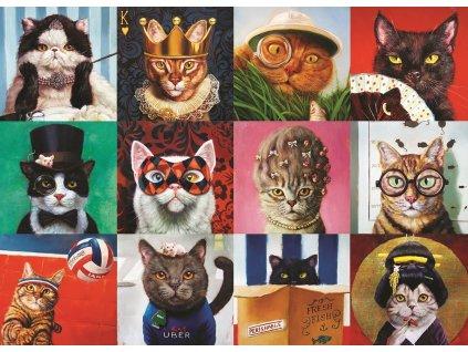 EUROGRAPHICS Puzzle Legrační kočky 1000 dílků