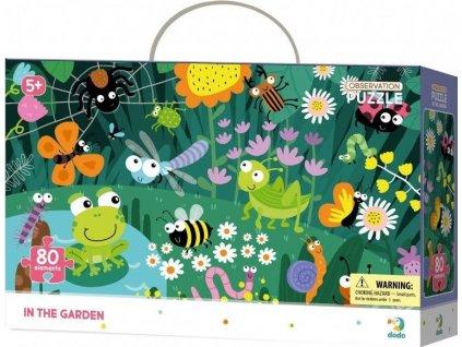 DODO Puzzle s hledáním obrázků V zahradě 80 dílků