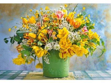 CASTORLAND Puzzle Kytice jarních květin 1000 dílků