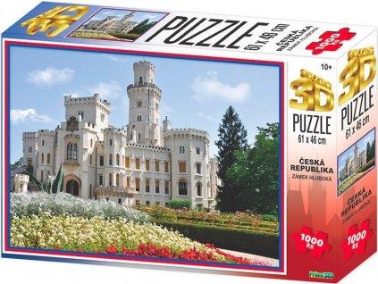 PRIME 3D Puzzle Zámek Hluboká 3D 1000 dílků