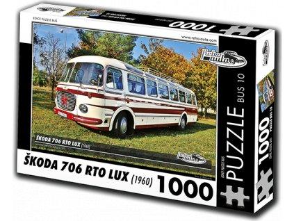 RETRO-AUTA Puzzle BUS č. 10 Škoda 706 RTO LUX (1960) 1000 dílků
