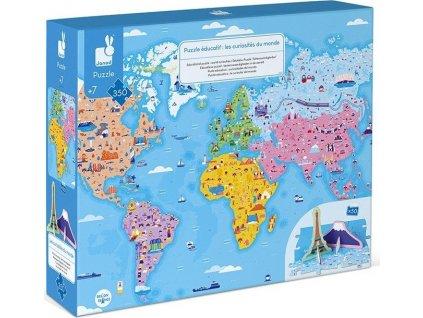 JANOD Vzdělávací puzzle Zajímavosti světa 350 dílků