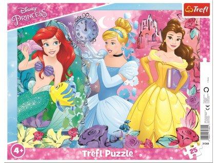 TREFL Puzzle Kouzelné princezny 25 dílků