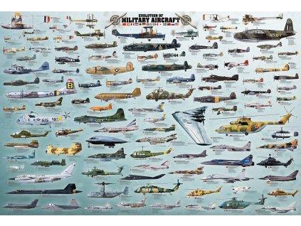 EUROGRAPHICS Puzzle Vojenská letadla 2000 dílků