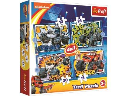 TREFL Puzzle Plamínek a čtyřkoláci: S přáteli (12,15,20,24 dílků)