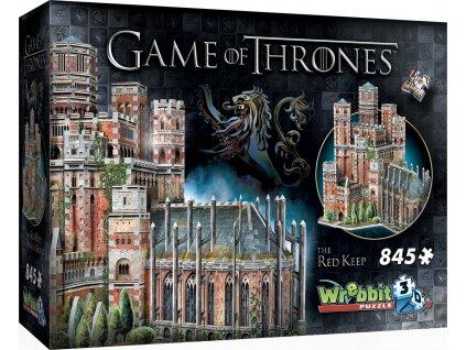 WREBBIT 3D puzzle Hra o trůny: The Red Keep 845 dílků