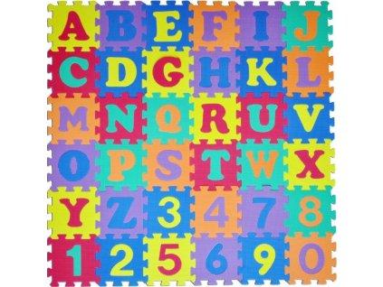 Pěnové puzzle Písmena a čísla (15x15)