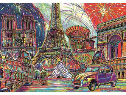 TREFL Puzzle Barvy Paříže 1000 dílků