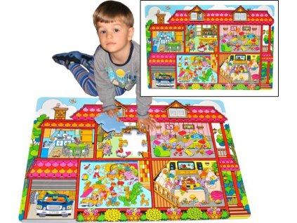 LC Pěnové podlahové puzzle Domeček 54 dílků