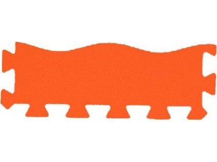 MALÝ GÉNIUS Okrajový dílek vlna 8mm (oranžový)