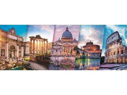 TREFL Panoramatické puzzle Cestování po Itálii 500 dílků