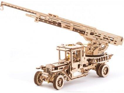 UGEARS 3D puzzle Truck UGM-11 s požárním žebříkem 537 dílků