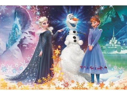 TREFL poškozený obal: Puzzle Ledové království: Vánoce s Olafem MAXI 24 dílků