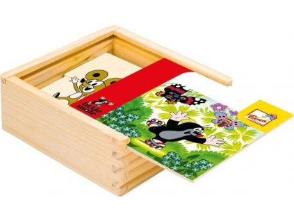 BINO Dřevěné puzzle Krteček 4x4 dílky