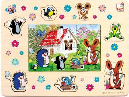 BINO Vkládačka + Puzzle: Krtek a přátelé