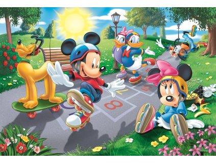 TREFL Puzzle Mickey Mouse: Na kolečkových bruslích 100 dílků