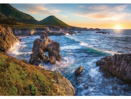 RAVENSBURGER Puzzle Západ slunce u Big Sur, Kalifornie 1000 dílků