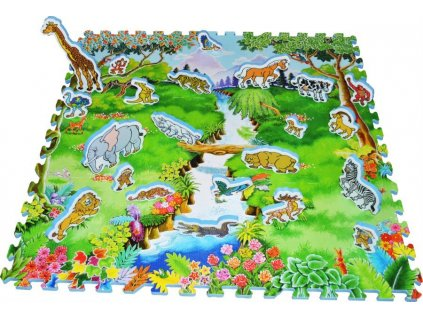 LC Pěnový koberec se zvířátky Safari