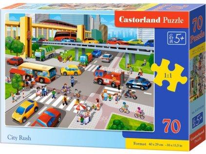 CASTORLAND Puzzle Vytížená křižovatka 70 dílků