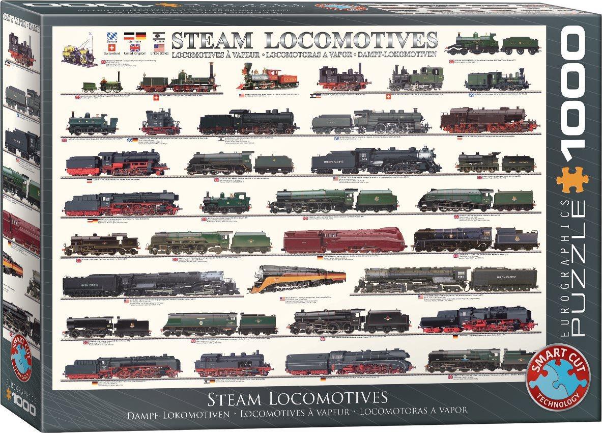 EUROGRAPHICS Puzzle Parní lokomotivy 1000 dílků