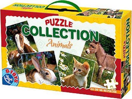 D-TOYS Puzzle Domácí zvířátka 4v1 (24,35,48,60 dílků)